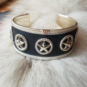 Western Stars Black and Silver Cuff Bracelet